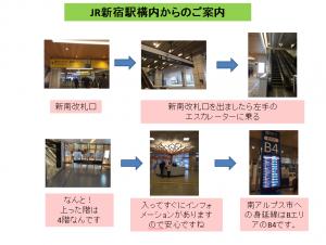 JR新宿駅構内からのご案内