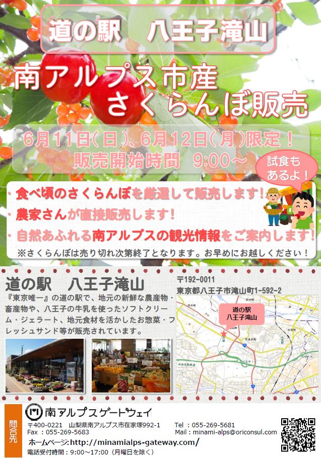 道の駅八王子滝山チラシ